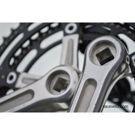 Crankset Shimano GA-200 Dura-Ace Black drilled rings first generation 172,5 42 53